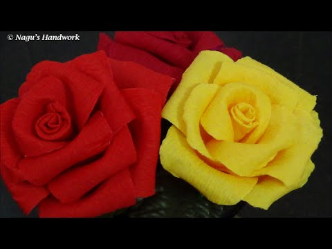 Crepe Paper Flower Tutorial How To Make Paper Flower Crepe Paper
