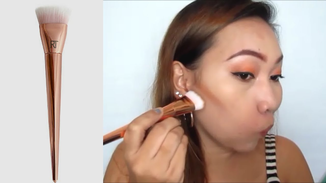 real techniques bold metals contour brush. rt bold metals 301 flat contour brush | review \u0026 demo real techniques w