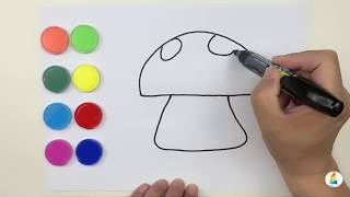 Colorful Mushroom, Children's Music,drawing for Kids