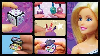 Barbie Doll Makeup Collection. DIY Miniature Barbie Hacks and Crafts