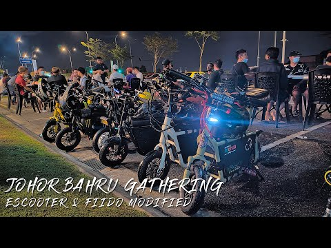Fiido modified(jahat) & Escooter gathering at Johor Bahru | fast exciting ride