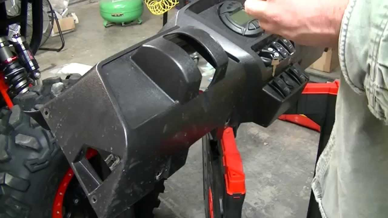 rocker switch dash installation on arctic cat wildcat sport trail [ 1280 x 720 Pixel ]