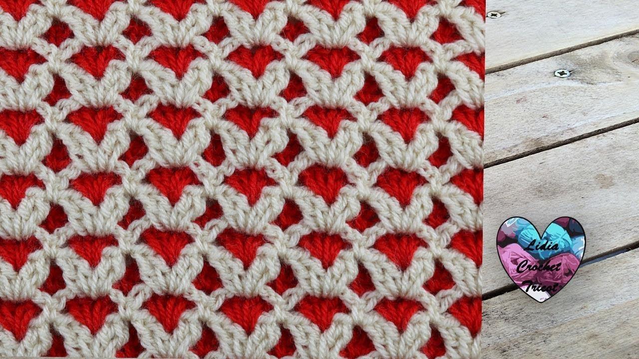 Point Reversible Au Crochet Pour Couverture