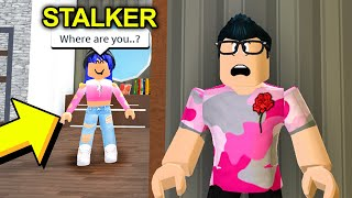 I Had To HIDE From A STALKER.. But She Broke Into My House.. (Roblox Bloxburg)
