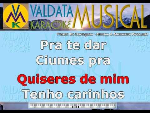 Paixão De Dartagnan   Alcione & Alexandre Pires   Karaoke