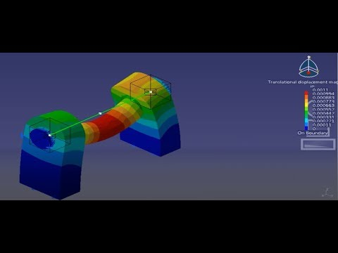 CATIA   FEA Model Of A Bearing Shaft Assambly Using Analysis Connection PART-003