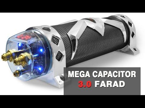 Mega Capacitor 3.0 Farad Chromo Black p/ Módulos até 3000w RMS - www.SOMSC.com.br