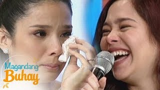 Magandang Buhay: Saab becomes emotional while giving her message to Maxene