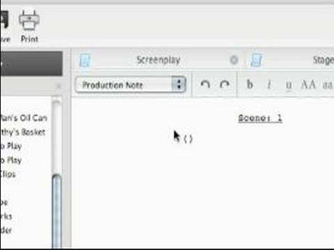 Celtx Free Screenwriting Software Tutorials : Learn the Audio Play Editor  in Celtx