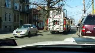 Jersey city, NJ Engine 19 & Ladder 8 responding