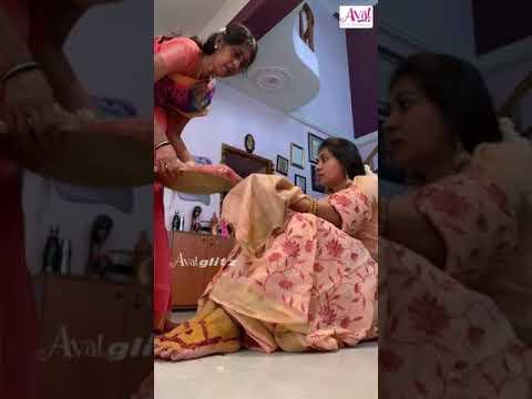 Super Singer நித்யஸ்ரீக்கு அம்மா வைத்த நலுங்கு ! | Nithya Shree | Traditional Look | #Shorts
