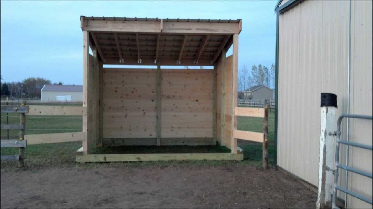 Building lean barn or shelter on skids youtube