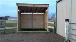 Building Lean Barn Or Shelter On Skids
