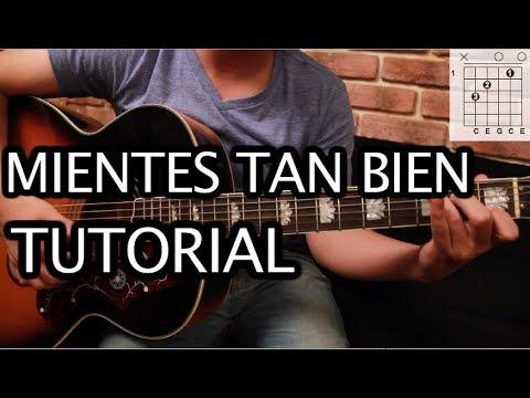 """Como tocar """"Mientes Tan Bien"""" de Sin Bandera - Tutorial Guitarra (Acordes) HD"""
