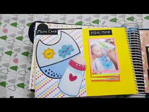 Handmade Scrapbook Baby Boy First Year by Devashree