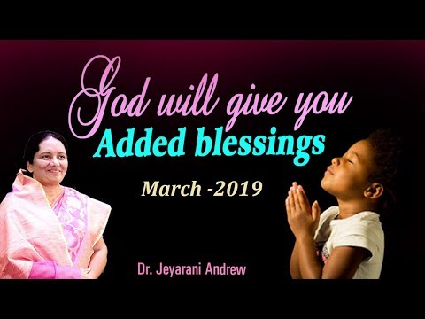 March  2019 - PROMISE  MESSAGE In English by DrJeyarani Andrew Dev