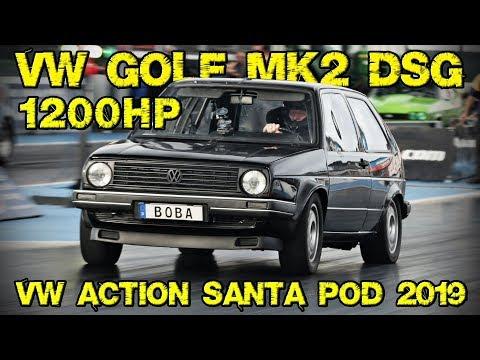 1200+HP Golf Mk2 AWD @ VW Action Santa Pod 2019
