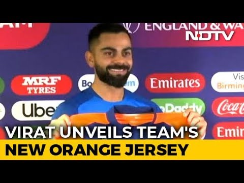 Virat Kohli Unveils Indian Team's New Orange Jersey | Cricket World Cup 2019
