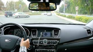 KIA CADENZA K7 Road Test Drive on local road