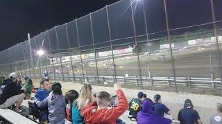Auto Racing at the New Egypt Speedway opening laps of the Sportsman feature.