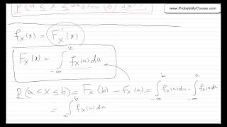 26 probability density function pdf for continuous random variables