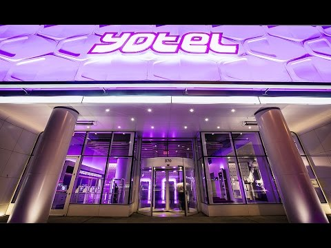 YOTEL Hotel New York City - Cabin View and YOBOT - Time Square - Walkthrough 2014