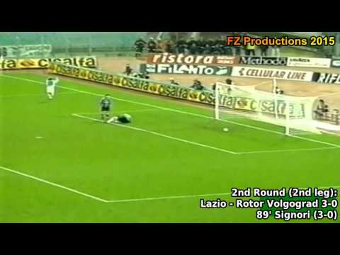 1997-1998 Uefa Cup: SS Lazio All Goals (Road to the Final)