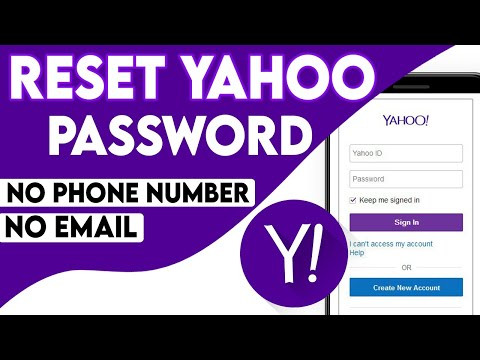 How To Recover Yahoo Password Without email ID