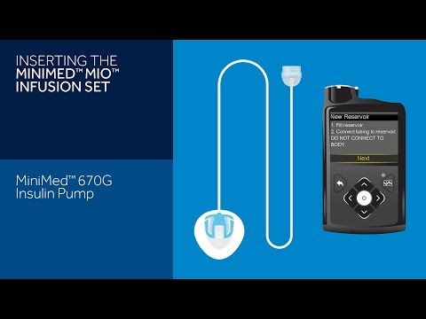 Inserting the Mio Infusion Set with the MiniMed 670G Insulin Pump