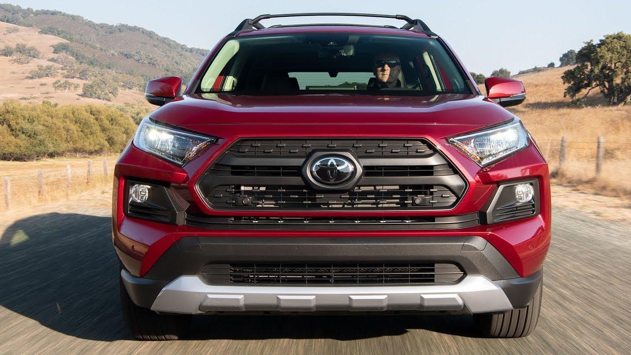 2019 Toyota Rav4 Adventure Ruby Flare Pearl Driving Interior