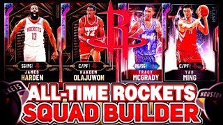 ALL TIME HOUSTON ROCKETS SQUAD BUILDER! HARDEN LEADS THE OFFENSIVE POWERHOUSE! NBA 2k20 MyTEAM