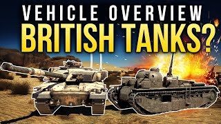 Vehicle overview: BRITISH TANKS / War Thunder