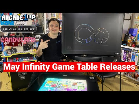 Infinity Game Table by Arcade1Up May Game Releases - Trivia Pursuit, Candyland, and More! from UrGamingTechie