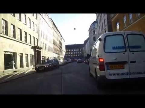Cycling in Copenhagen : Norre Alle _ Sankt hans Gade _ Ravnsborggade _ Frederiksborggade