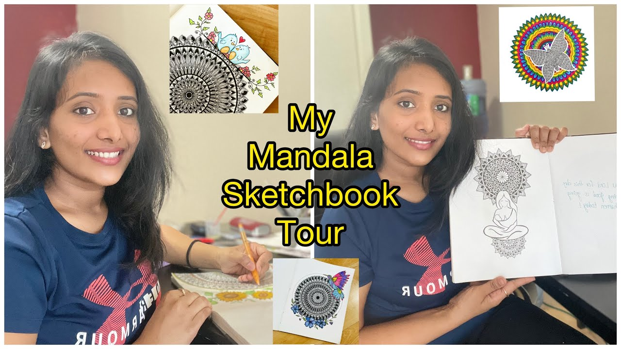 Mandala Sketchbook Tour! / Poojitha Karthik