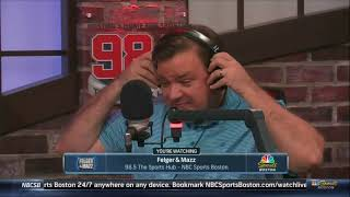 Felger and Mazz Disrespecting Greg Bedard (GREG WALKS OFF) [Felger and Mazz 10/10/17 Hour 2]
