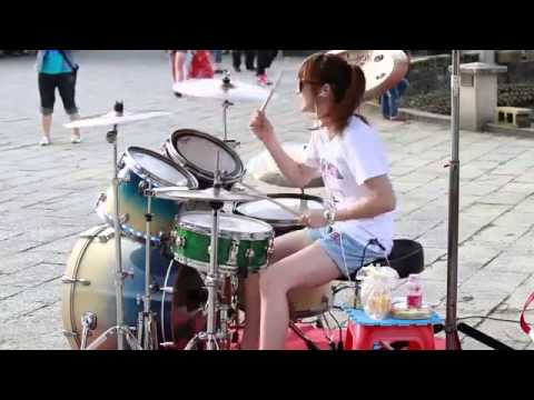 Vicky Chen - Gangnam Style  ( Drums Girl )