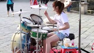Vicky Chen - Gangnam Style   Drums Girl