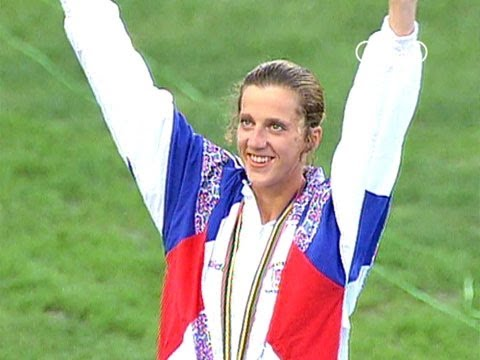 Sally Gunnell wins 400m Hurdles Gold - Barcelona 1992 Olympics