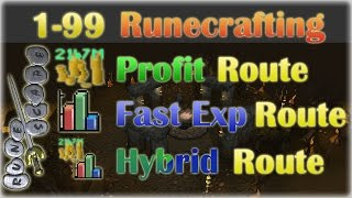 ULTIMATE 1-99 Runecrafting Guide! | Oldschool 2007 Runescape | Best Profit, Best Exp, or Both!