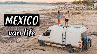 COUPLE TRAVELING BY VAN IN MEXICO