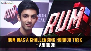 RUM was a challenging horror task - Anirudh