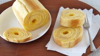 Baumkuchen (German Layered Cake) at home バームクーヘンの作り方 (レシピ) - OCHIKERON - CREATE EAT HAPPY