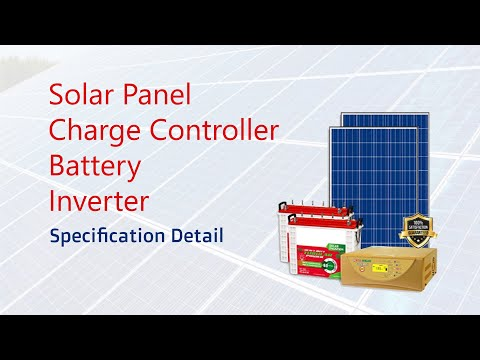 solar Panel, Charge Controller, battery, Inverter  Specification Detail in Tamil