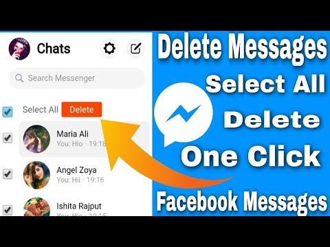 DELETE ALL FACEBOOK MESSAGES JUST ONE CLICK | FACEBOOK K SARE MESSAGES KAISE DELETE KARE 1 CLICK ME