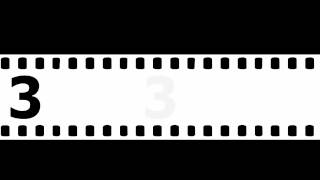 Repeat youtube video 【素材】ビデオ素材用 カウントダウン5秒【フィルム背景】