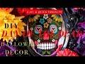 DIY Day of the Dead Decor | Dollar Tree DIY Halloween Decor | DIY Sugar Skull Wreath & Candelabra