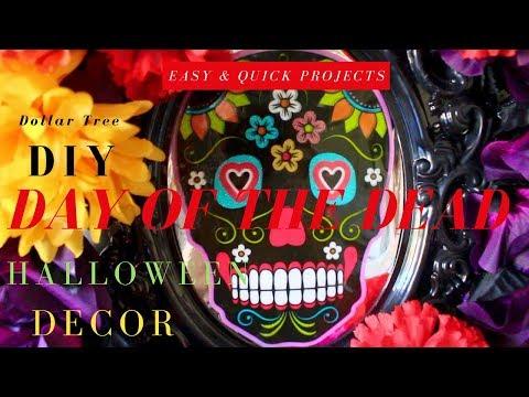 diy-day-of-the-dead-decor-|-dollar-tree-diy-halloween-decor-|-diy-sugar-skull-wreath-&-candelabra