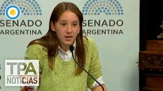 Una joven salteña de 16 años sorprendió en el debate por el aborto | #TPANoticias