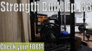Check your form   Bench Press Workout   Vlog   Strength Bulk Ep. 83